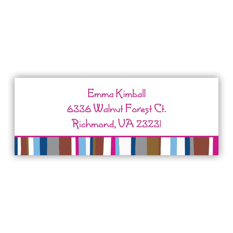 Cool stripes address lables return address labels for Cool return address labels