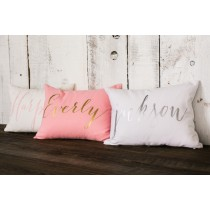 Calligraphy Name Foil Pillow